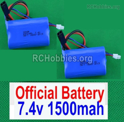 Subotech BG1525 Battery Packs Parts, 2S 7.4V 1500mah Lipo Battery. Total 2pcs. DZDC01